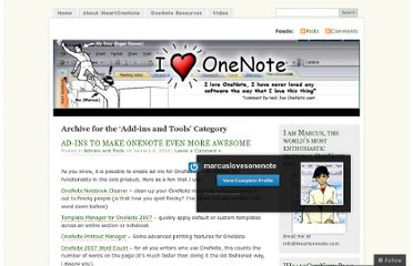 http://marcuslovesonenote.wordpress.com/category/add-ins-and-tools/