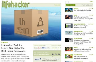 http://lifehacker.com/5827968/lifehacker-pack-for-linux-our-list-of-the-best-linux-downloads