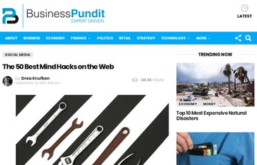http://www.businesspundit.com/the-50-best-mind-hacks-on-the-web/