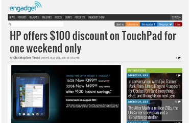 http://www.engadget.com/2011/08/04/hp-offers-100-discount-on-touchpad-for-one-weekend-only/