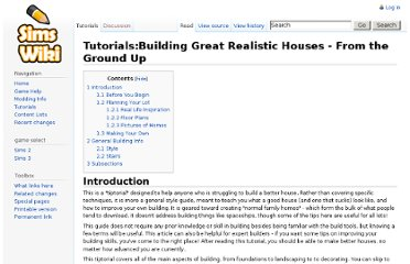 http://simswiki.info/wiki.php?title=Tutorials:Building_Great_Realistic_Houses_-_From_the_Ground_Up