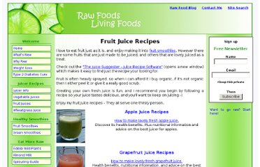 http://www.rawfoods-livingfoods.com/fruit-juice-recipes.html