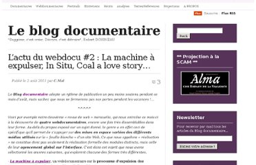 http://cinemadocumentaire.wordpress.com/2011/08/02/lactu-du-webdocu-2/