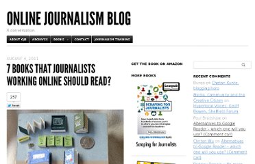 http://onlinejournalismblog.com/2011/08/03/7-books-that-every-journalist-working-online-should-read/