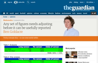 http://www.guardian.co.uk/commentisfree/2011/aug/05/bad-science-adjusting-figures