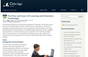 http://www.oxbridgeessays.com/blog/the-pros-and-cons-of-e-learning-and-education-technology-717/