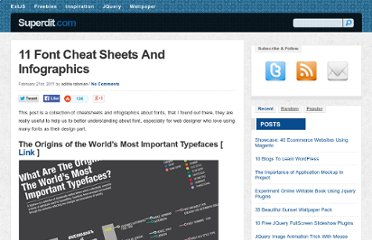 http://superdit.com/2011/02/21/11-font-cheat-sheets-and-infographics/