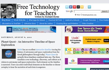 http://www.freetech4teachers.com/2011/08/planet-quest-interactive-timeline-of.html