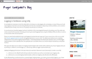 http://searjeant.blogspot.com/2008/11/logging-in-netbeans-using-slf4j_9366.html