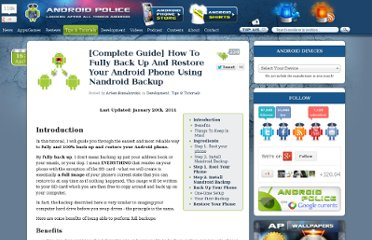 http://www.androidpolice.com/2010/04/16/complete-guide-how-to-fully-back-up-and-restore-your-android-phone-using-nandroid-backup-and-clockworkmod-rom-manager/