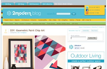 http://blog.2modern.com/2011/08/diy-geometric-paint-chip-art.html