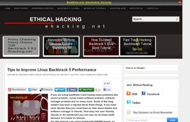 http://www.ehacking.net/2011/08/tips-to-improve-linux-backtrack-5.html