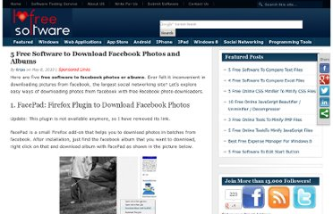 http://www.ilovefreesoftware.com/08/articles/5-free-software-to-download-facebook-photos-and-albums.html