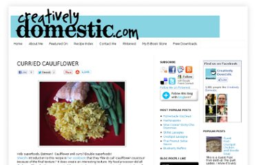 http://www.creativelydomestic.com/2011/08/curried-cauliflower.html