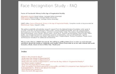 http://www.heinz.cmu.edu/~acquisti/face-recognition-study-FAQ/