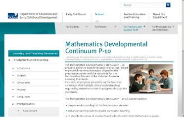 http://www.education.vic.gov.au/studentlearning/teachingresources/maths/mathscontinuum/default.htm
