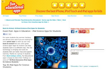 http://www.funeducationalapps.com/2011/08/back-to-school-40-best-science-ipad-apps-for-students.html