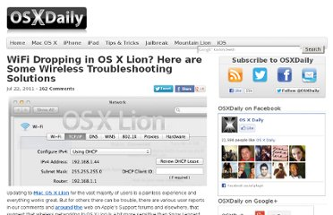 http://osxdaily.com/2011/07/22/wifi-dropping-in-os-x-lion-fixes/