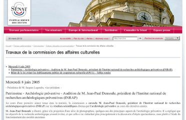 http://www.senat.fr/commission/cult/cult050610.html#toc2