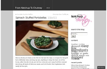 http://ketchuptochutney.wordpress.com/2011/07/13/spinach-stuffed-portobellas/