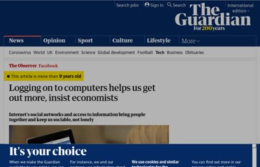 http://www.guardian.co.uk/technology/2011/aug/07/logging-on-makes-us-sociable
