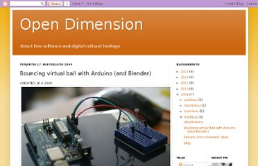 http://opendimension.blogspot.com/2009/04/bouncing-virtual-ball-with-arduino-and.html