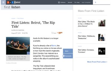 http://www.npr.org/2011/08/07/138984737/first-listen-beirut-the-rip-tide