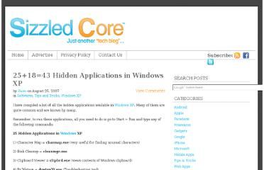 http://www.sizzledcore.com/2007/08/25/251843-hidden-applications-in-windows-xp/