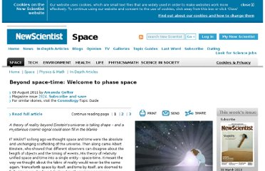 http://www.newscientist.com/article/mg21128241.700-beyond-spacetime-welcome-to-phase-space.html