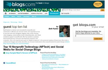 http://www.blogs.com/topten/top-10-nonprofit-technology-nptech-and-social-media-for-social-change-blogs/