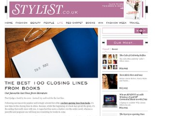 http://www.stylist.co.uk/life/the-best-100-closing-lines-from-books