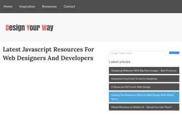 http://www.designyourway.net/blog/resources/latest-javascript-resources-for-web-designers-and-developers/