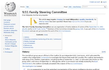 http://en.wikipedia.org/wiki/9/11_Family_Steering_Committee