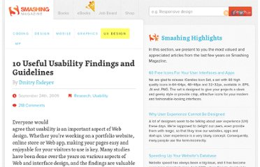 http://uxdesign.smashingmagazine.com/2009/09/24/10-useful-usability-findings-and-guidelines/