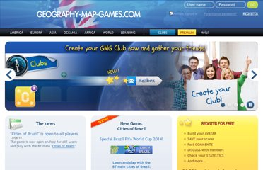 COM : Free flash geography games. Geographic knowledge games about the World ...