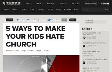 http://theresurgence.com/2011/03/26/5-ways-to-make-your-kids-hate-church