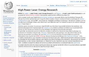 http://fr.wikipedia.org/wiki/High_Power_Laser_Energy_Research