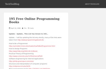 http://www.techtoolblog.com/archives/195-free-online-programming-books