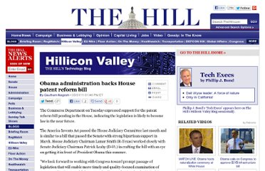 http://thehill.com/blogs/hillicon-valley/technology/163975-obama-administration-backs-house-patent-reform-bill