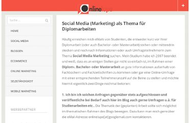 http://www.onlinelupe.de/social-media/social-media-marketing-als-thema-fur-diplomarbeiten/