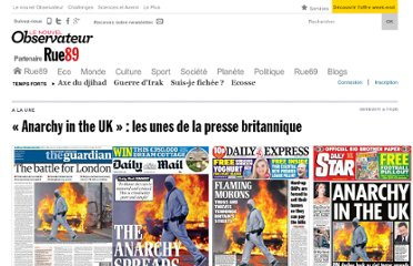 http://www.rue89.com/2011/08/09/anarchy-in-the-uk-les-unes-de-la-presse-britannique-217265