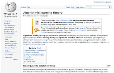 http://en.wikipedia.org/wiki/Algorithmic_learning_theory
