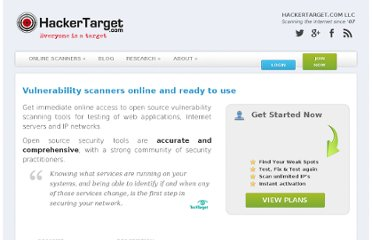 http://hackertarget.com/free-security-vulnerability-scans/