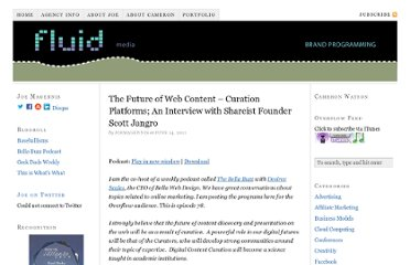 http://befluid.com/wp/the-future-of-web-content-curation-platforms-an-interview-with-shareist-founder-scott-jangro.html