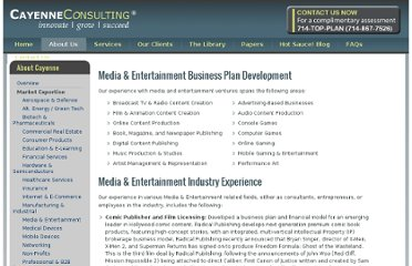 http://www.caycon.com/media-entertainment-business-plan-consulting.php