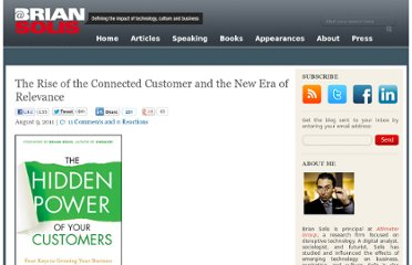 http://www.briansolis.com/2011/08/the-rise-of-the-connected-customer-and-the-new-era-of-relevance/