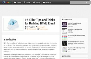 http://www.queness.com/post/8784/12-killer-tips-and-tricks-for-building-html-email