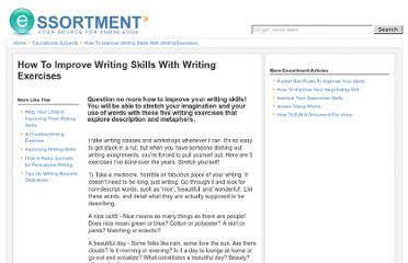 http://www.essortment.com/improve-writing-skills-writing-exercises-34649.html