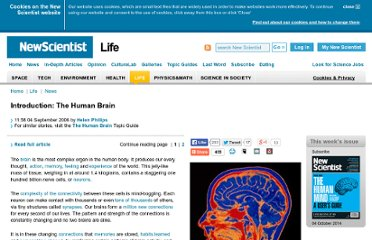 http://www.newscientist.com/article/dn9969-introduction-the-human-brain.html
