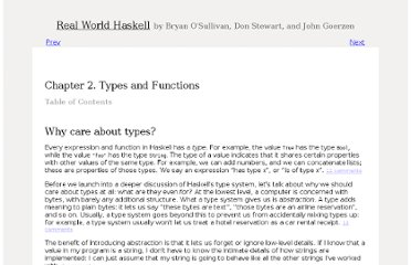 http://book.realworldhaskell.org/read/types-and-functions.html